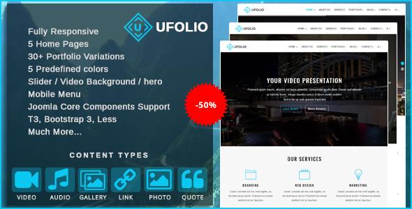 Ufolio – Multipurpose & Portfolio Joomla Template