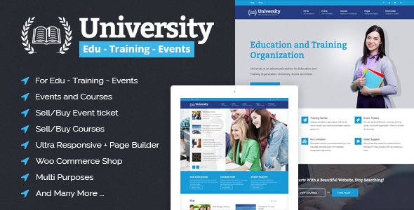 University - Education, Event and Course HTML Template