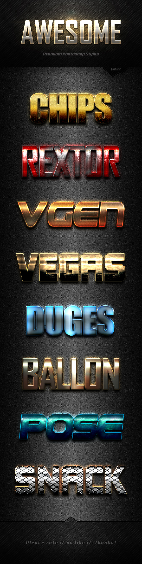Photoshop Text Effects Vol.24 - Text Effects Styles
