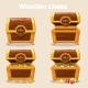 Opened and Closed Antique Treasure Chest - GraphicRiver Item for Sale