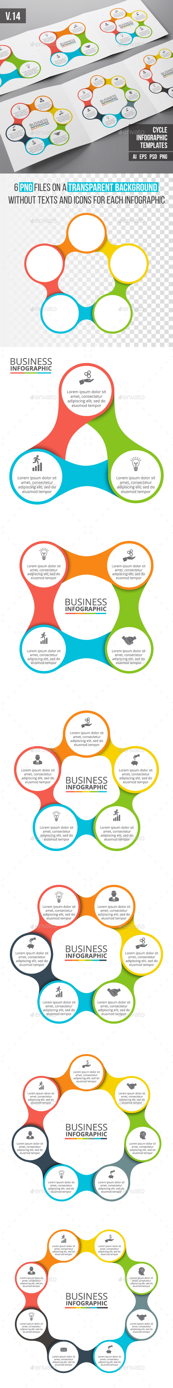 Infographics template set v.14 - Infographics