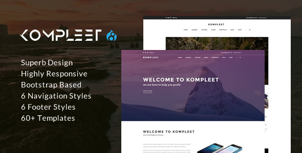 Kompleet – Creative & Flexible Responsive Multipurpose Drupal 8 Theme