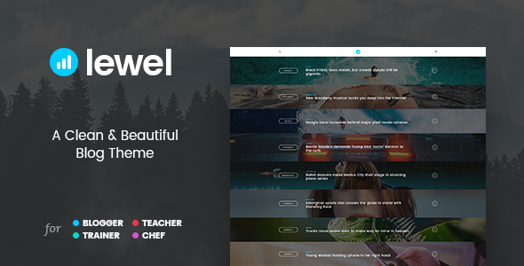 LEWEL – A Clean and Beautiful Blog Theme