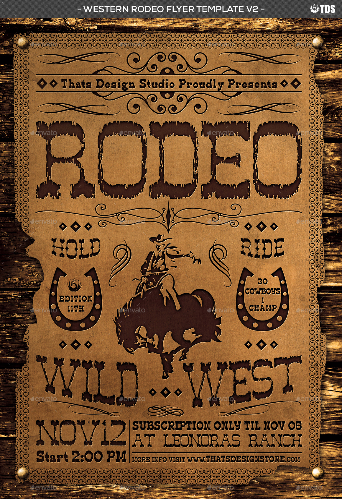western rodeo flyer template v2 by lou606