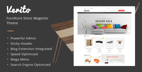 Verito - Furniture Store Magento Responsive Theme