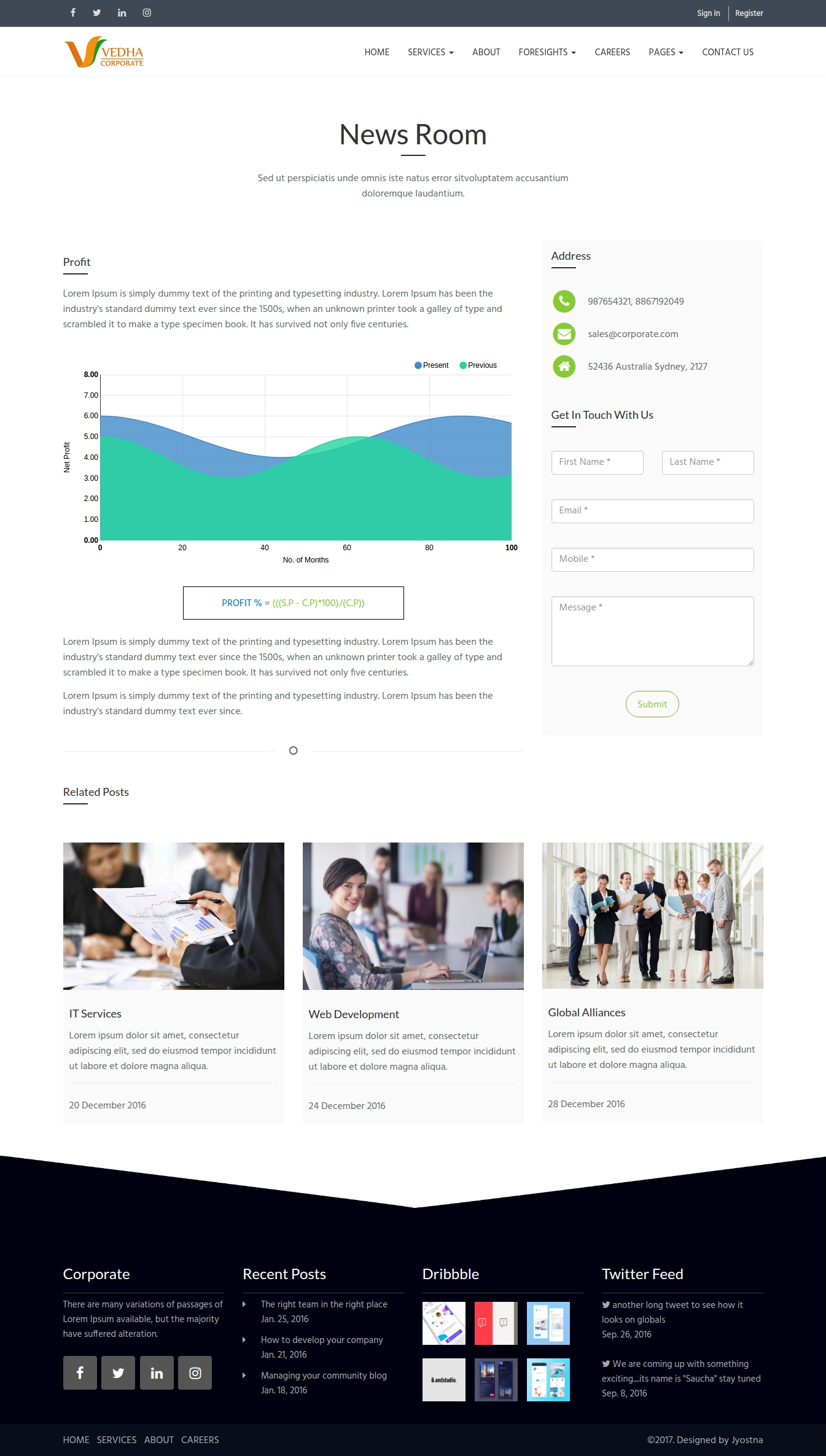 Vedha corporate html template by jyostna themeforest vedha corporate html template toneelgroepblik Choice Image
