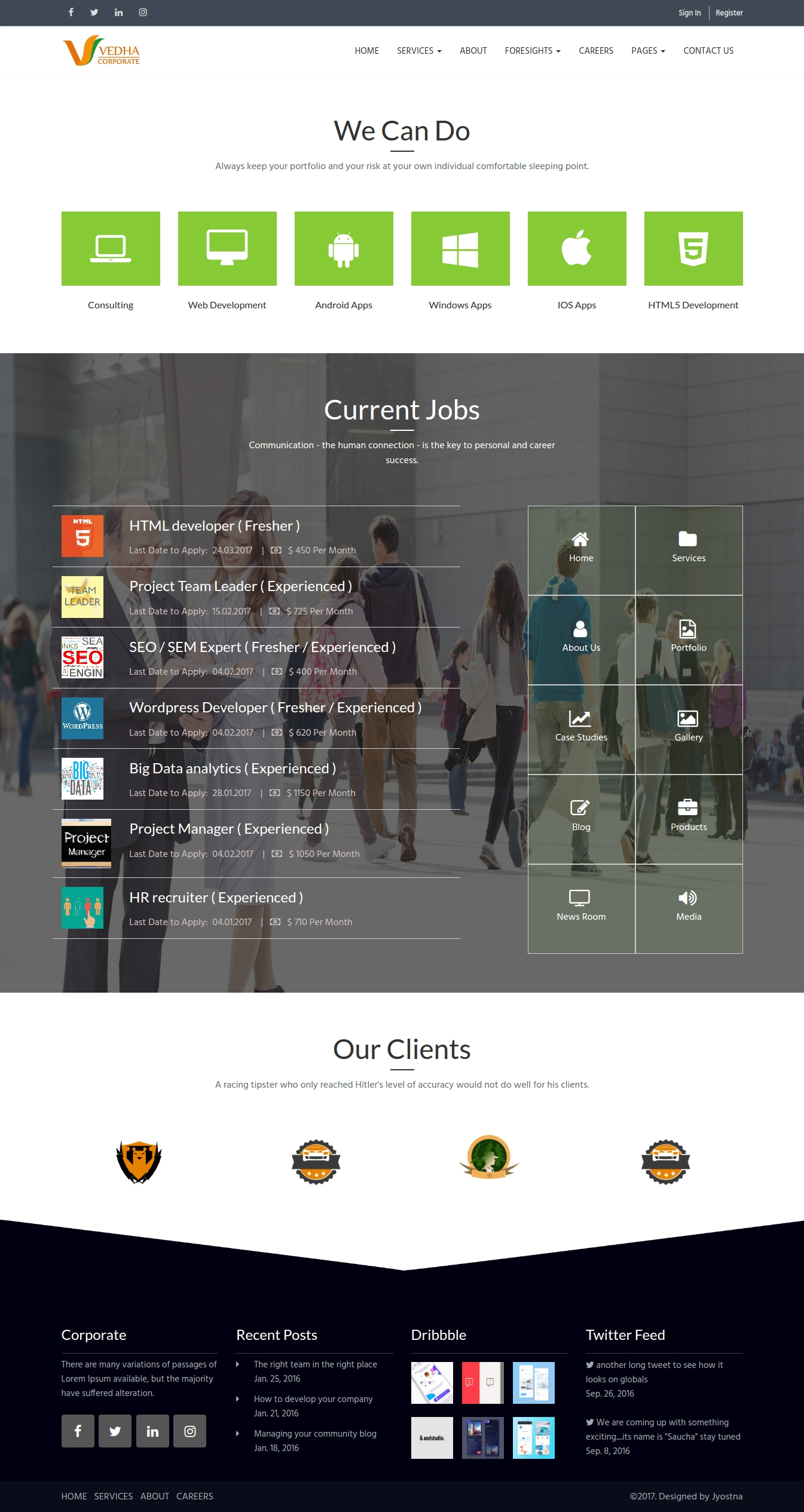 Vedha - Corporate HTML template by jyostna   ThemeForest