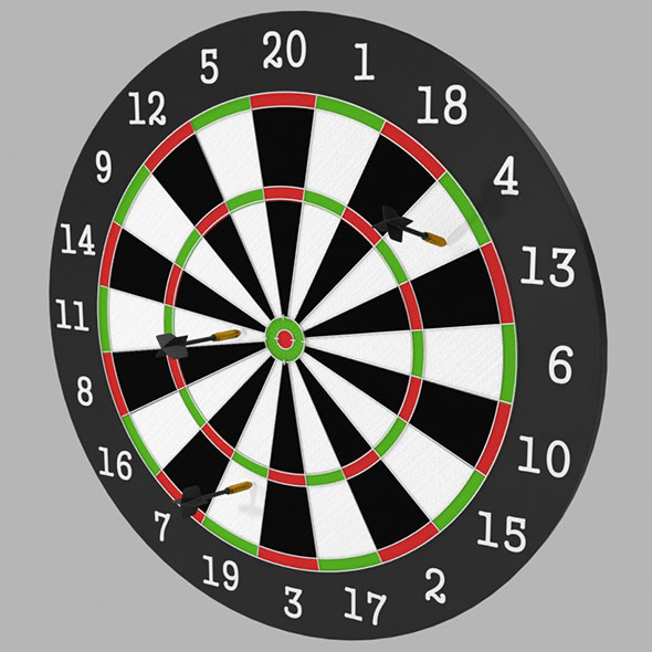 Dartboard - 3DOcean Item for Sale