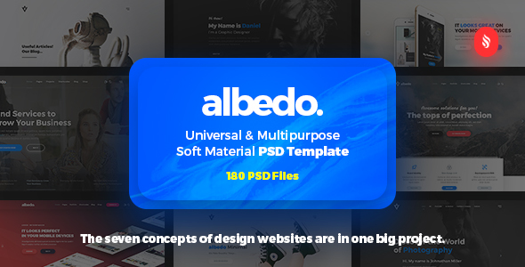 Albedo – Universal and Multipurpose Soft Material PSD Template