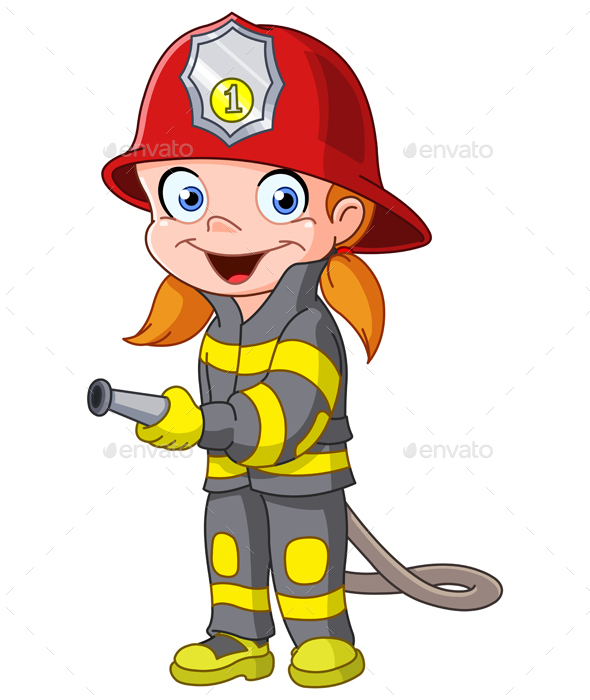 Firegirl Cartoon - People Characters
