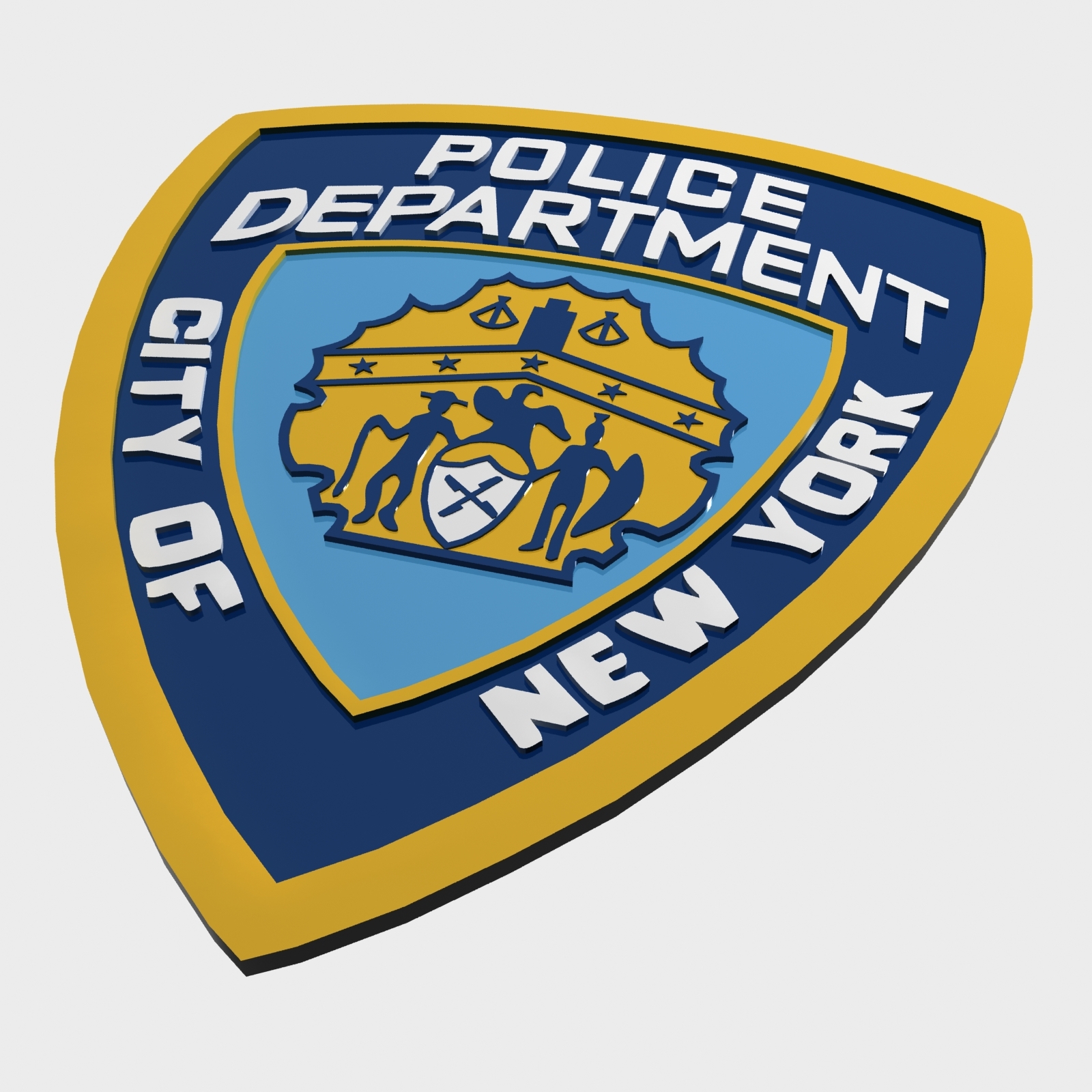 NYPD Police Department Logo By Polygon3d