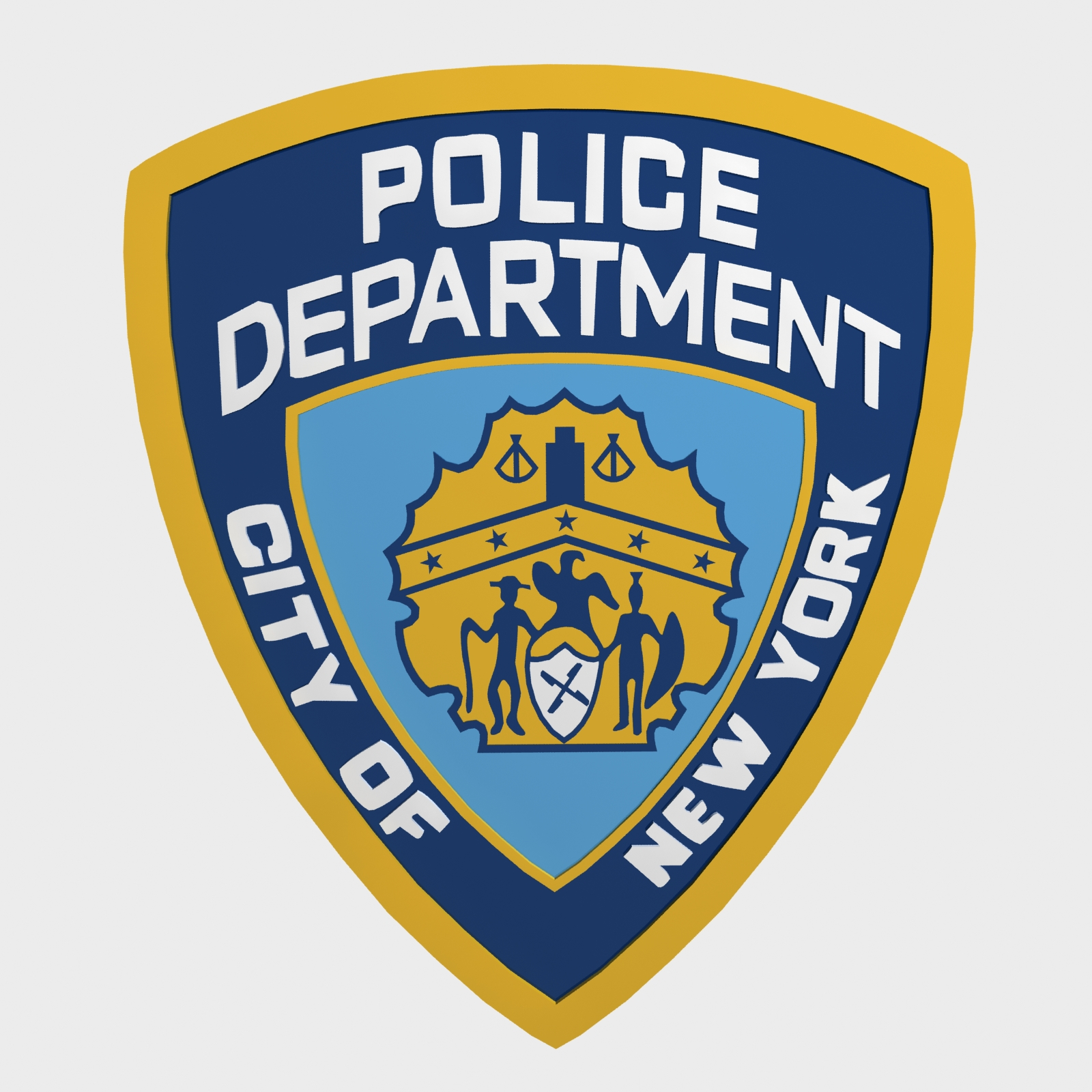 nypd police department logo by polygon3d 3docean rh 3docean net nypd login nypd logo vector