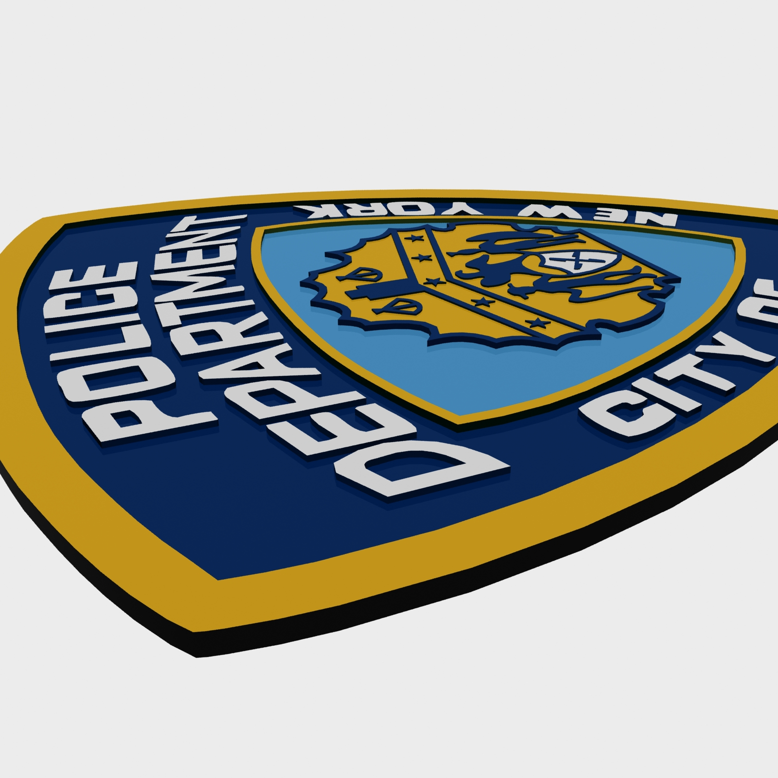 nypd police department logo by polygon3d 3docean rh 3docean net nypd logo wallpaper nypd logo history