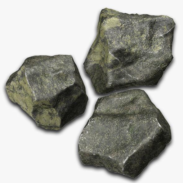 Rock 3 Type Boulder - 3DOcean Item for Sale