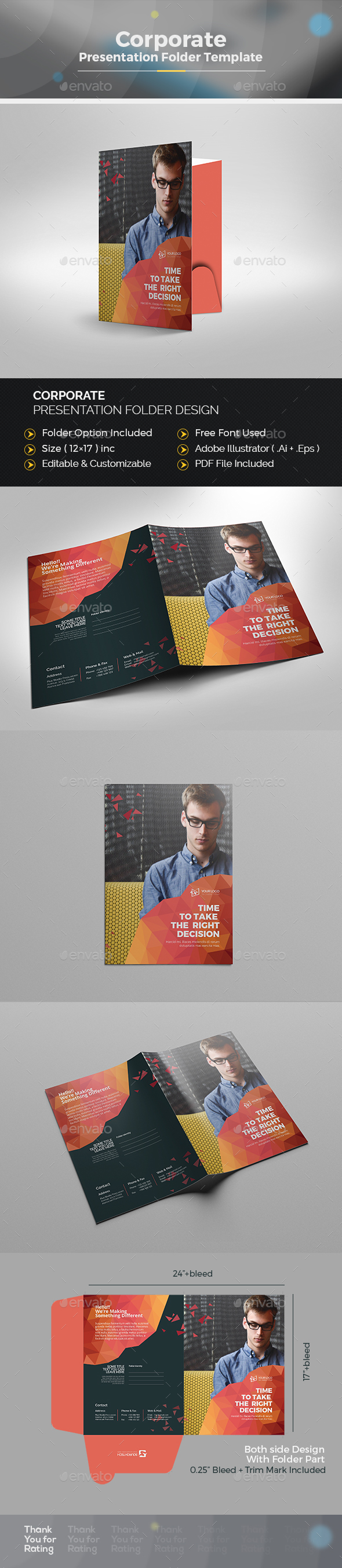 Abstract Presentation Folder - Stationery Print Templates