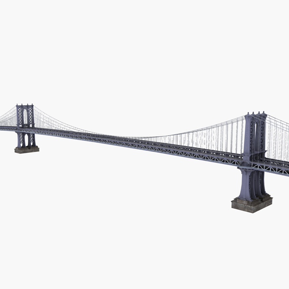 Manhattan Bridge New york - 3DOcean Item for Sale
