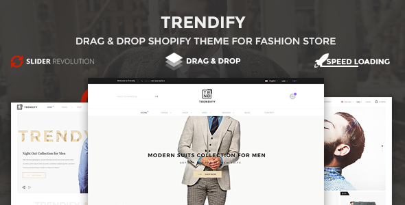 Trendify – Boost sale, Drag Drop, Clean Fashion Shopify Theme