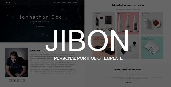 JIBON – Personal Portfolio Template