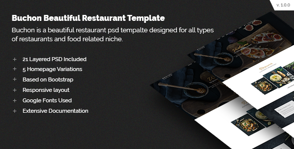Buchon Multipurpose Restaurant Template - Food Retail