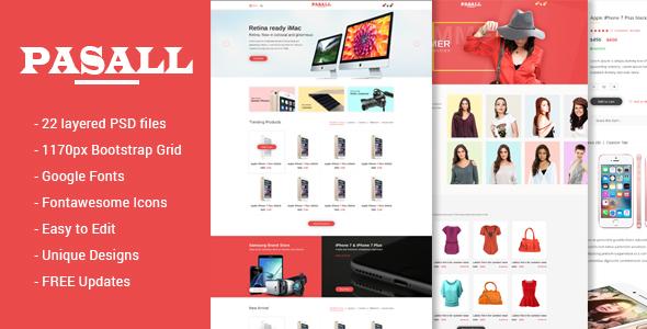 Pasall – Modern eCommerce PSD template