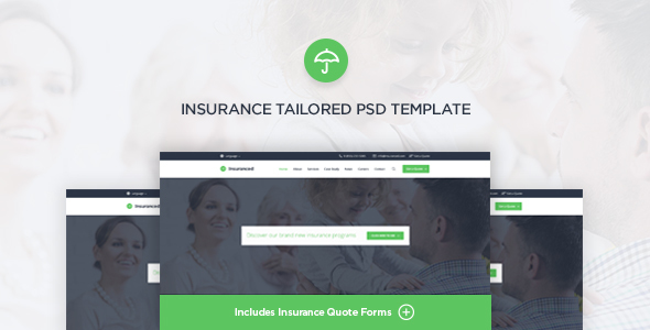 Insuranced – Insurance PSD Template