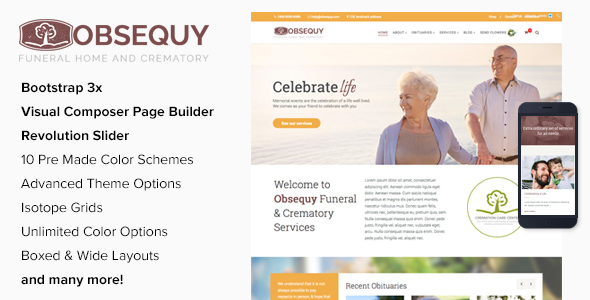 Obsequy – Funeral Home WordPress Theme
