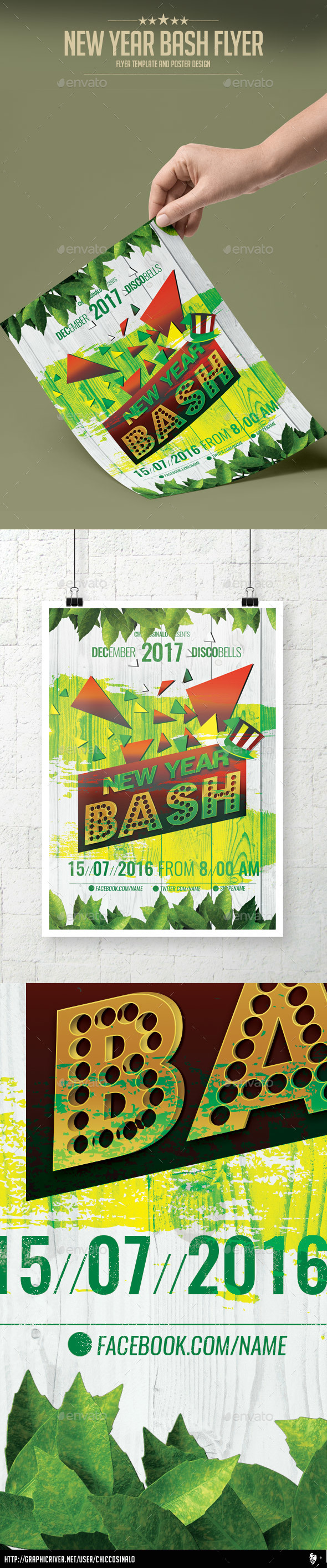 New Year Bash  Flyer Template - Events Flyers