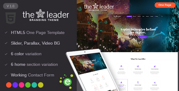 The Leader – Creative Business HTML Template