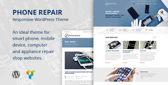 Phone Repair – Mobile, Cell Phone and Computer Repair Business WordPress Theme