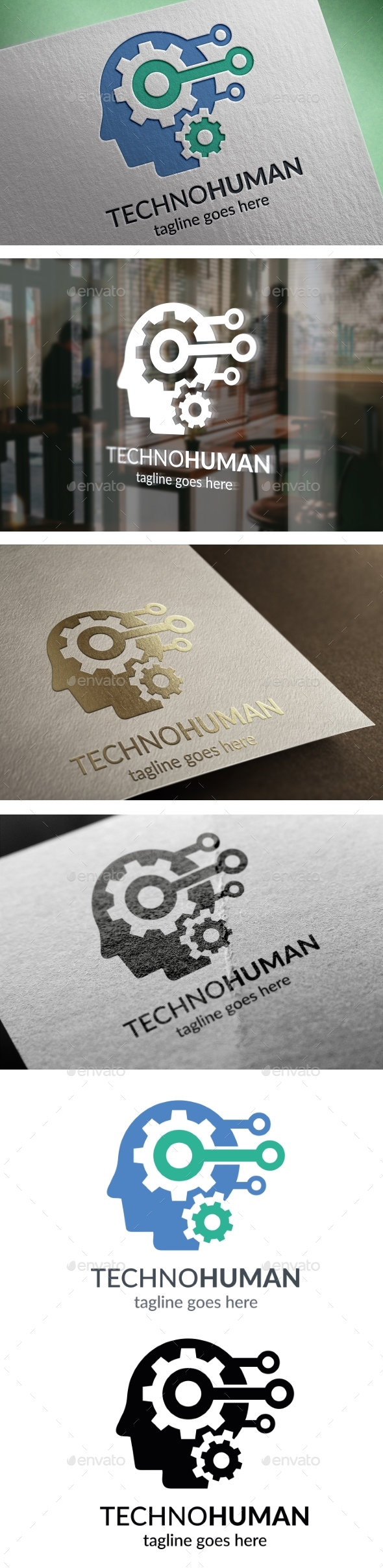 Techno Human Logo - Humans Logo Templates