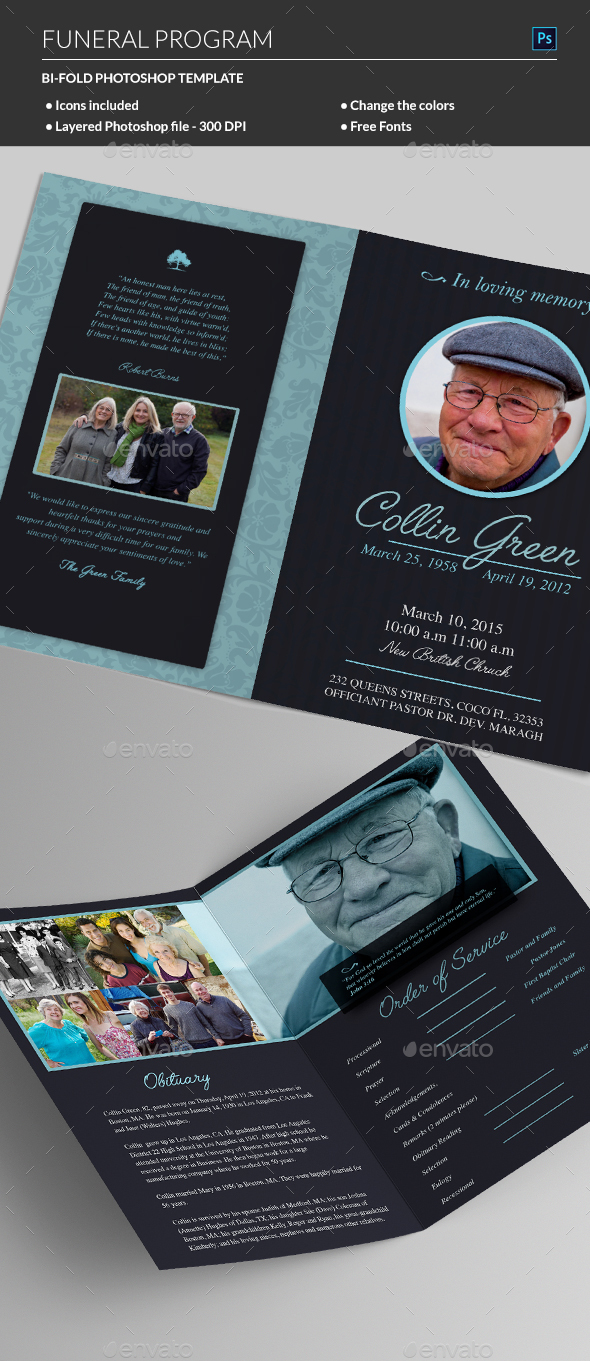 Funeral Program - Informational Brochures