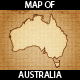 Vintage Map of Australia - GraphicRiver Item for Sale