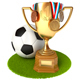 Gold Cup and Soccer Ball - GraphicRiver Item for Sale