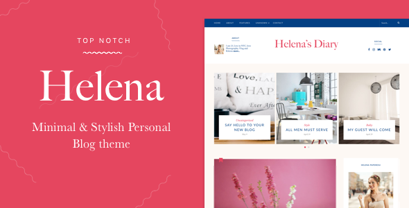 Helena – Personal WordPress Blog Theme