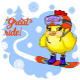 Great Ride Young Chicken on a Snowboard - GraphicRiver Item for Sale