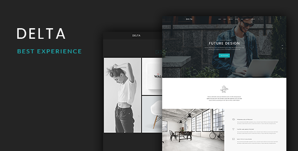 Delta – Onepage PSD Template