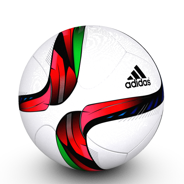 Adidas Conext15 Soccer Ball Red - 3DOcean Item for Sale