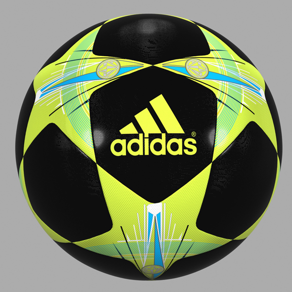 Champions League Soccer Ball 02 - 3DOcean Item for Sale