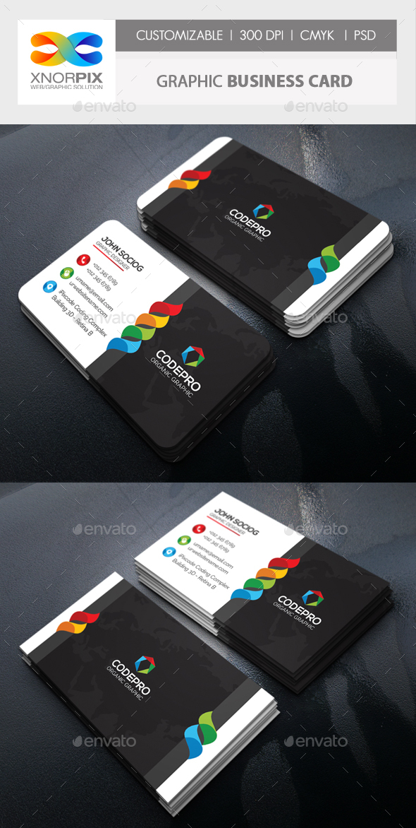 Graphic Business Card - Corporate Business Cards