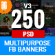 Facebook Ad Banners (Vol-3) - 250 - GraphicRiver Item for Sale