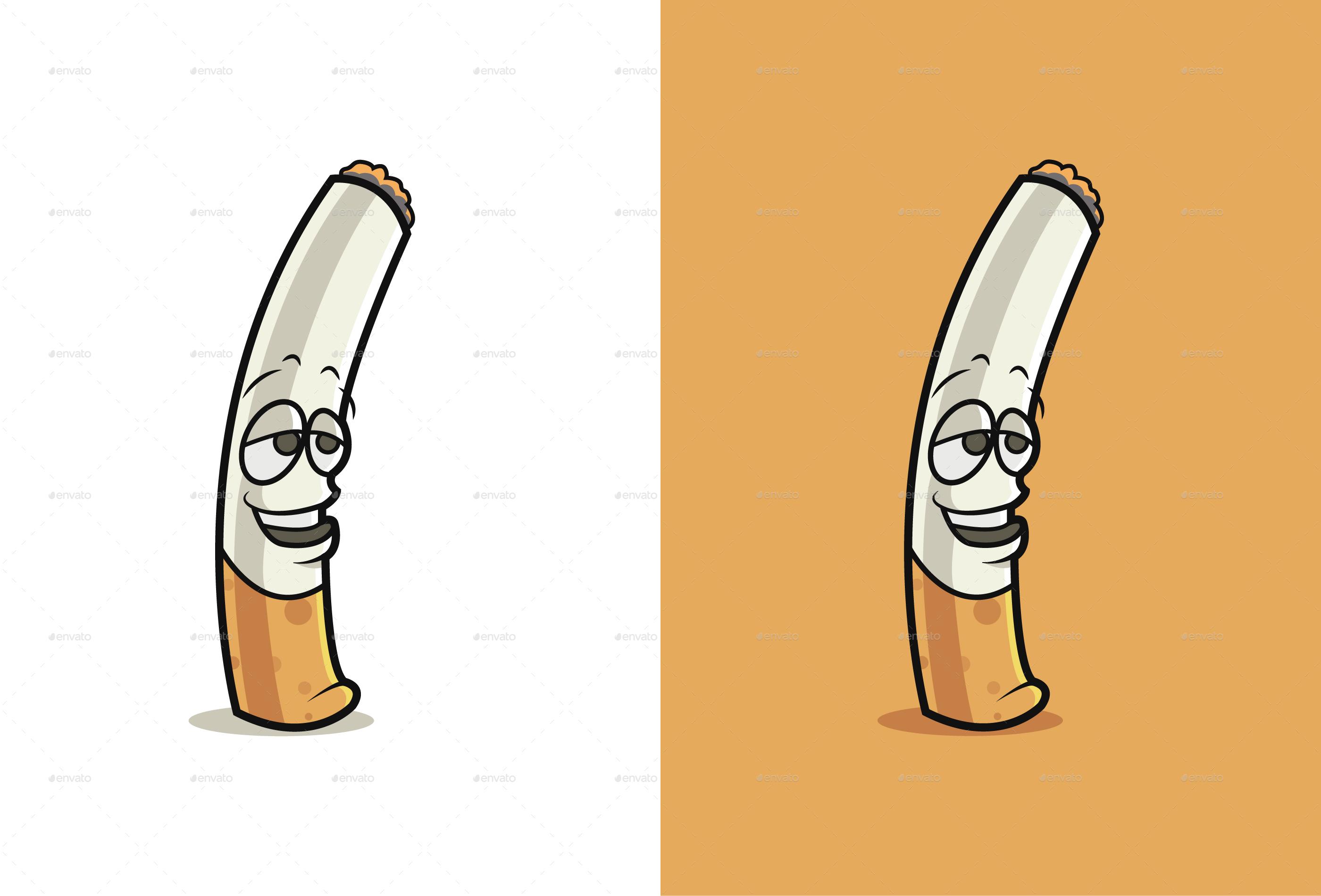 cartoon cigarette emoji set by shallunarula graphicriver rh graphicriver net cigarette cartons uk cigarette carton size