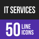 IT Services Line Inverted Icons - GraphicRiver Item for Sale