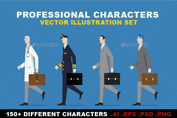 Professional Characters Set - People Characters