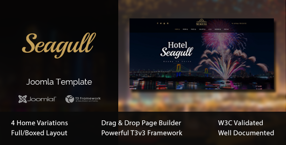 Image of Seagull - Hotel & Resort Joomla Template