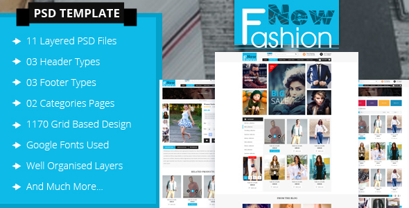 Fashion eCommerce PSD Template