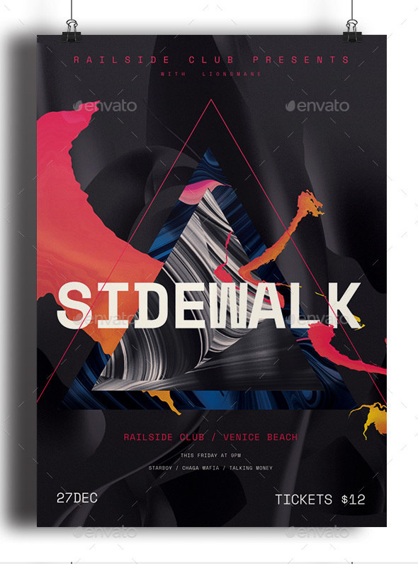 Sidewalk - Events Flyers