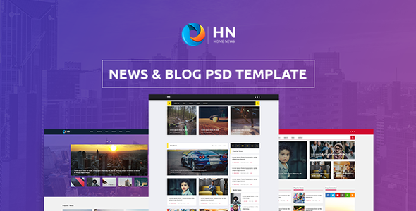 Home News – News and Blog PSD Template
