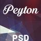 Peyton - Creative One Page PSD Template