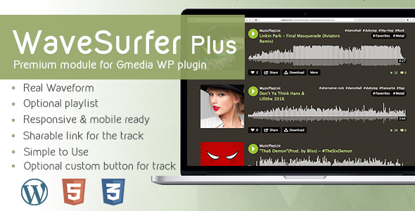 WaveSurfer Plus v1.8 - MP3 Player module for Gmedia plugin - CodeCanyon Item for Sale