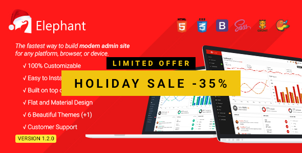 Elephant – Dashboard and Admin Site Responsive Template (+RTL)